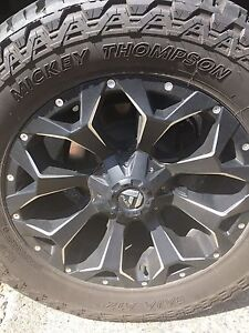 Fuel assault wheels and Mickey Thompson tires