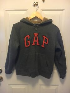 FOR SALE:  Gap Boys Fall Hoodie Sz 10 Sherpa Lined