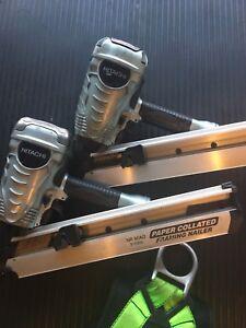 Hitachi nail guns and safety harnesses