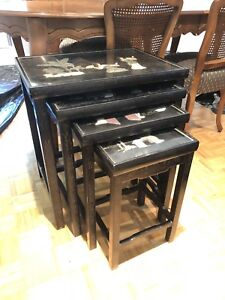 Antique Chinese nesting tables
