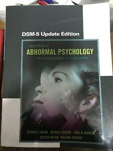 Essentials of Abnormal Psychocology 3rd Canadian Ed