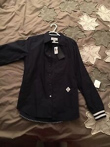 Crooks and castles men's dress shirt size medium