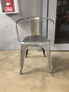 4 Metal Dining/ Occasional Chairs