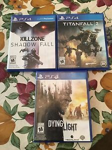 PS4 Games - Titanfall 2, Rise of the Tomb Raider, Dying Light