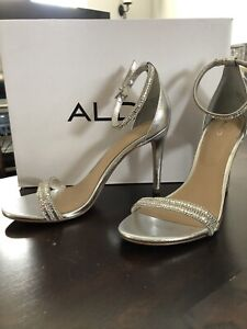 Silver prom/formal shoe