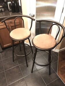Swivel Bar Stool / Chair x 2