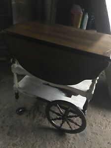 Antique tea wagon