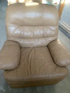 Sofa, love seat and recliner , all leather .