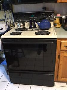 Stove And Side by Side Refrigerator