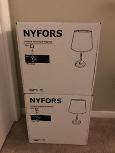 2 table lamps ( ikea ) brand new