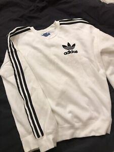 Adidas Originals White Mens Jumper Size SMALL