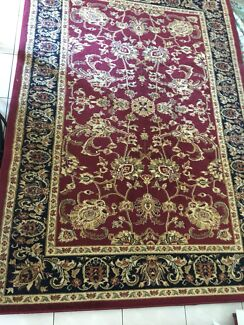 Low Pile Dark Red Rug