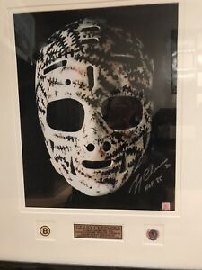 Autographed Gerry Cheevers Mask Picture