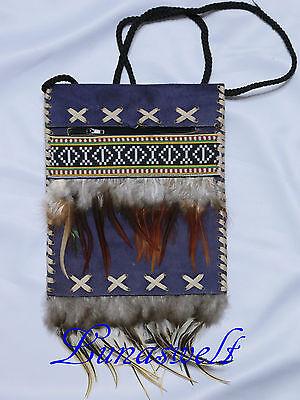 --Einfache Indianer   Umhängetasche Wildleder ---