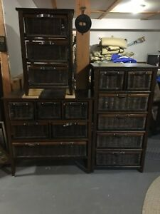Wicker Dressers for sale together or separate  call 705-454-2190
