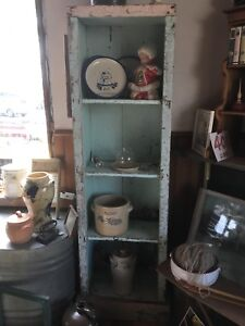 Turquoise Chimney Stand Hutch