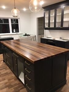 Wood and butcher block counter tops