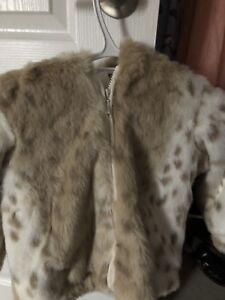 Restoration Hardware Faux Fur Coat and Backpack
