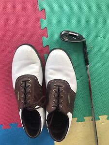Sand wedge plus golf shoes.