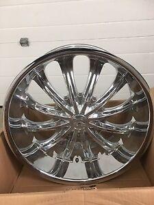 """22"""" chrome wheels rims fit dodge 5 bolt"""
