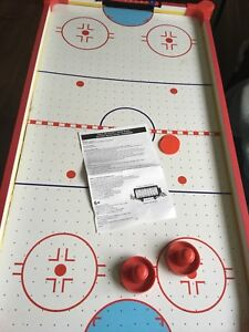 Kids air hockey table (not a full sized one) also portable