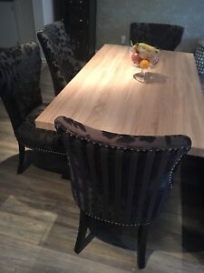Table(6-8people) & 4 chairs