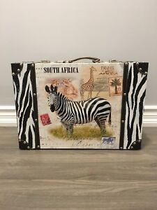 Zebra suitcase decor