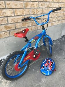 Spiderman 16 inch bike for kids with helmet
