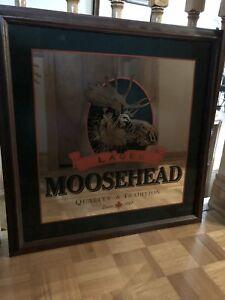 Moosehead Lager mirror advertising sign