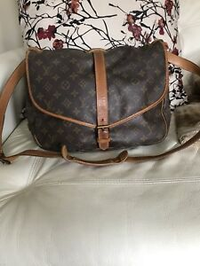 Authentic Louis Vuitton Saumur 35 Crossbody