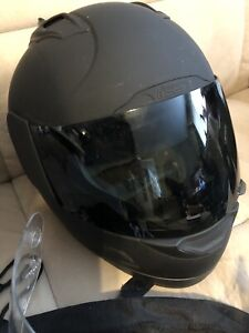 ICON Bike Helmet With 2 Face Shields and Storage Bag