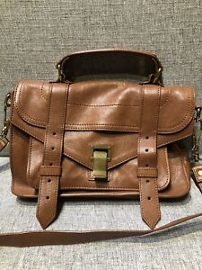 Authentic Proenza Schouler PS1 Tiny Leather Bag in Brown
