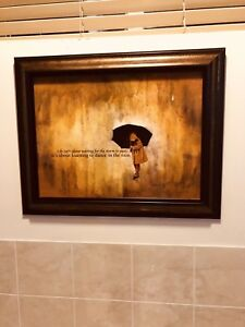 """Brushed Bronze """"Dance in the Rain"""" Framed picture"""