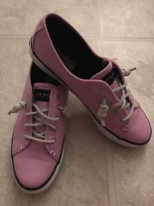 Light pink sperry topsider canvas shoes (9 1/2 women)