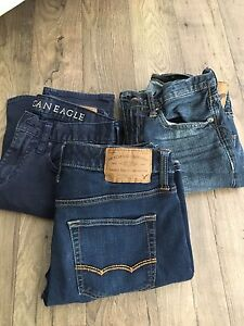 3 pairs of America Eagle Jeans 28x30