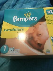 Unopened Pampers Swaddlers