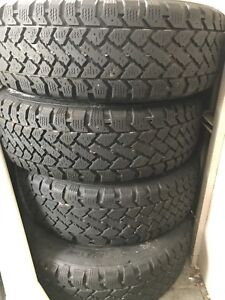 4 pacemark snowtracker winter tires and rims 195/65r15