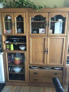 Oak Display Cabinet $150 OBO
