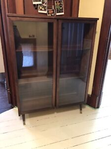 MCM Bookcase with Glass Doors