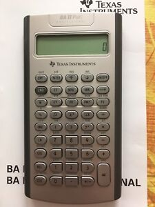 Professional calculator with cover and manual
