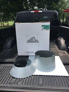 Solin plat  cheminée 6-7-8 pouce poêle bois cap flashing