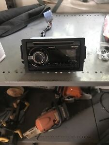 Double din Sony stereo deck