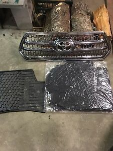2016-2017  Toyota Tacoma stock grill and floor mats