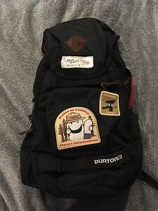 Burton backpack with built in cooler pouch