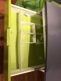 Single Loft bed & drawer