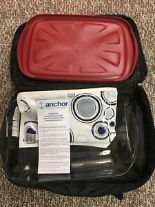 Insulated carrying case with glass dish