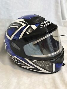 HJC snowmobile helmet with electric shield