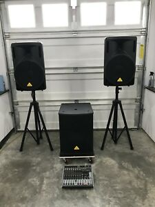 DJ, PA Speakers, Subs, Mixers. $50-$600. Mint