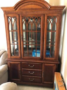 """China Cabinet solid oak  width 54"""" height 87"""" depth 18"""""""