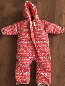 Columbia down filled baby winter snow suit, size 6-12